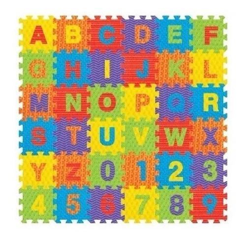 Piso alfombra foami abecedario numeros bebe 16x16 36 pzas