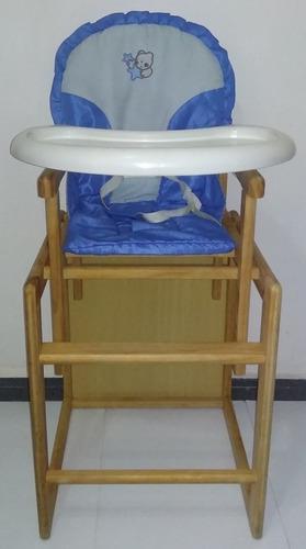 Silla para comer bebes convertible en mesita usada 55vrds