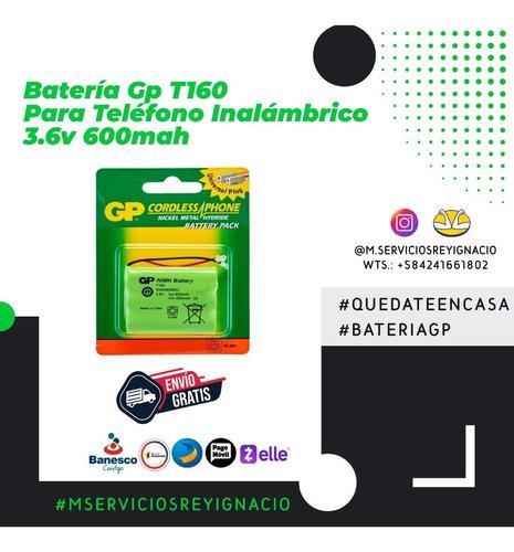 Batería gp t160 para teléfono inalámbrico 3.6v 600mah