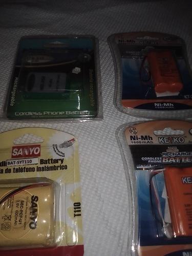 Baterías para teléfonos inalámbricos.