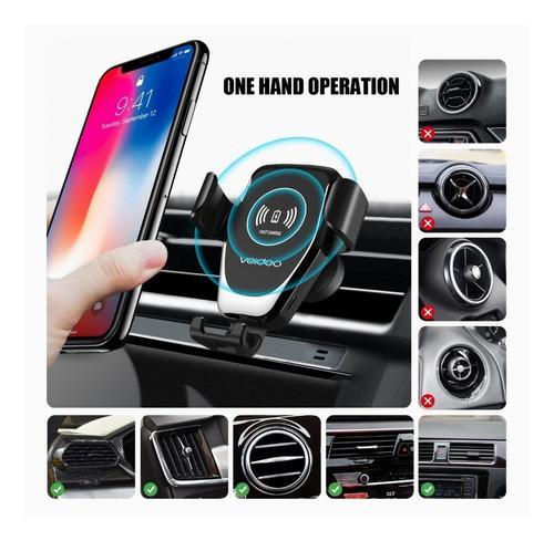 Cargador inalámbrico y portatelefono para carro