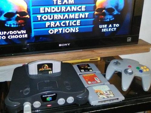 Nintendo 64, 1 control + 4 juegos