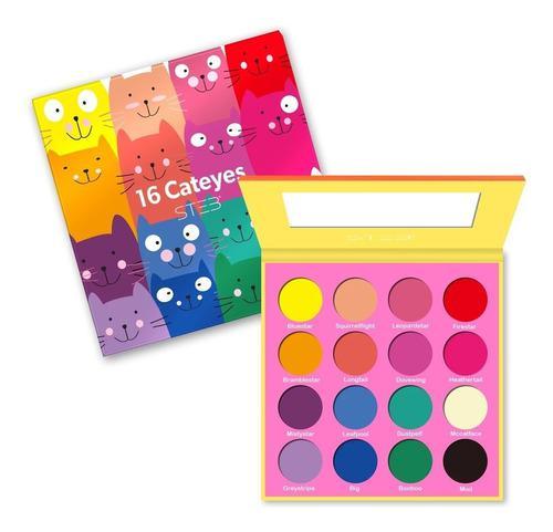Paleta de sombras cateyes 16 color matte eyeshadow palette