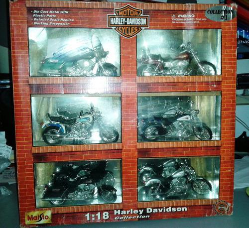 Set de 6 réplicas en miniatura motos harley davidson-