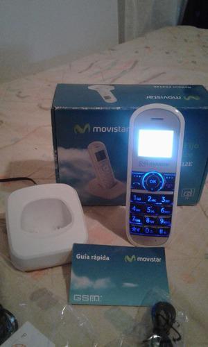 Teléfono inalámbrico con línea fija movistar 0282