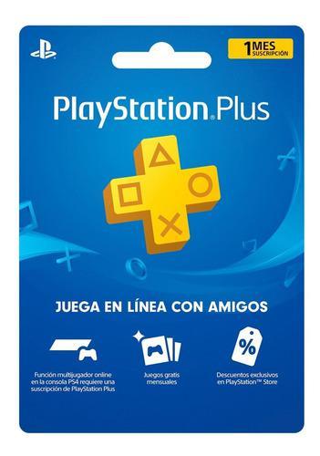 Playstation plus 1 mes codigo digital *8v*