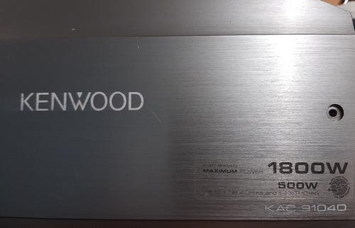 Amplificador kennwood kac-9104d 1800w monoblock