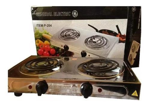 Cocina eléctrica general electric 2000w 110v cromada