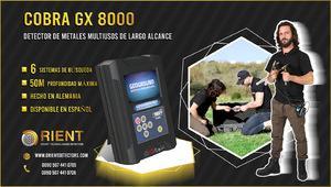 Detector de metales versátil cobra gx 8000 para cazadores