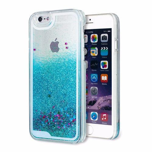 Forro agua escarcha iphone 5, iphone 6. iphone 6 plus