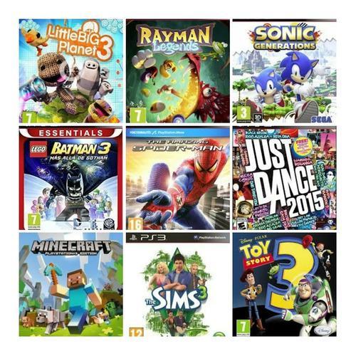 Juegos ps3 combo de 7 juegos precio publicado