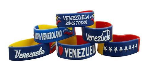 Pulseras llaveros tricolor venezuela vinotinto