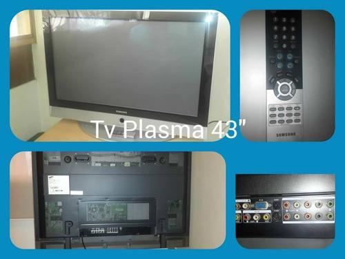 Samsung tv plasma 43 pulgadas con control remoto