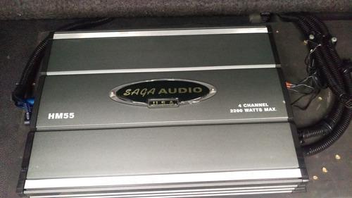 Usa amplificador para carros saga audio hm55