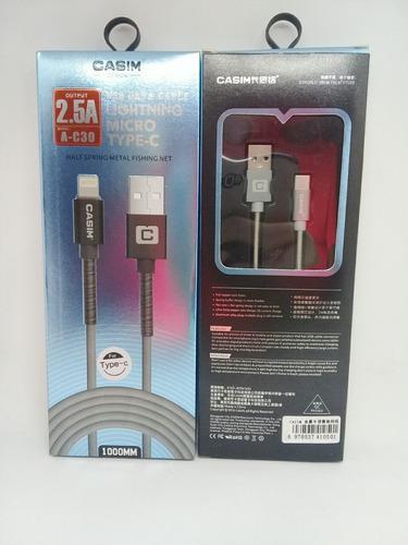 Cable Usb Casim Tipo C 1 M 1 Mes De Garantía Somos Tienda