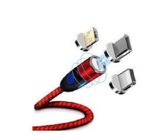 Cable usb magnetico conector micro usb iphone type c tipo c