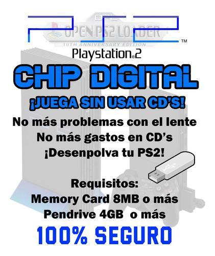 Chip digital ps2 (¡juega por pendrive!)