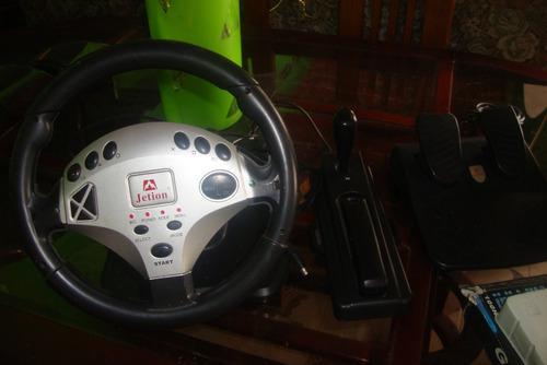 Juegos / accesorios para play 2. volante, palanca y frenos
