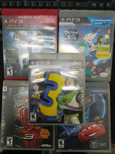 Juegos ps3 batman phineas spiderman cars toy story