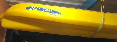 Kayak zest two exp de 3 puestos. con accesorios