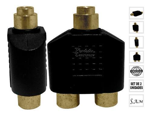 Adaptador Audio Video Y Splitter 2 Dual Hembra 1 Rca Hembra