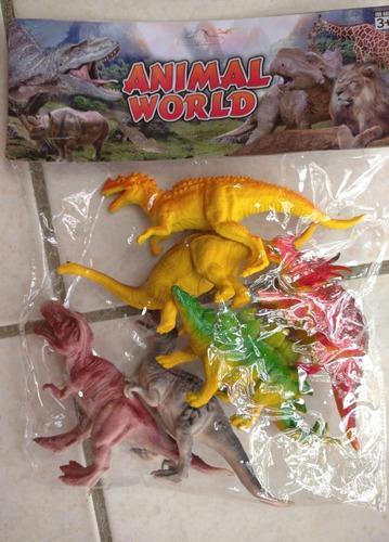 Dinosaurios juguetes para niños set de 6 piezas 15 cm.