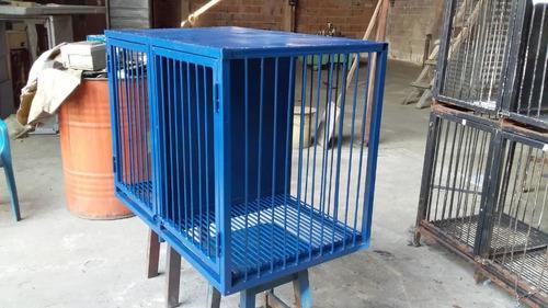 Jaula metalica doble compartimiento para animales usado
