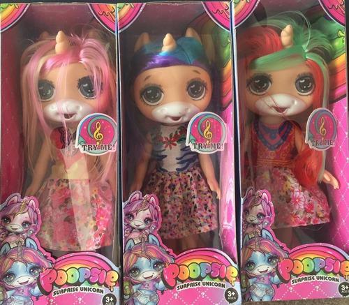 Muñecas de unicornio poopsie que cantan