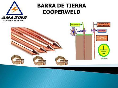 Barra de cobre cooperweld aterramiento