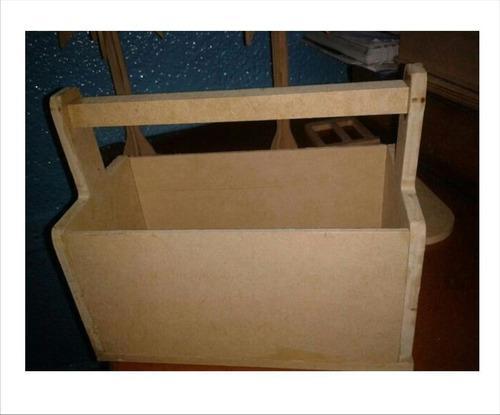 Caja organizador manualidades herramientas en mdf crudo