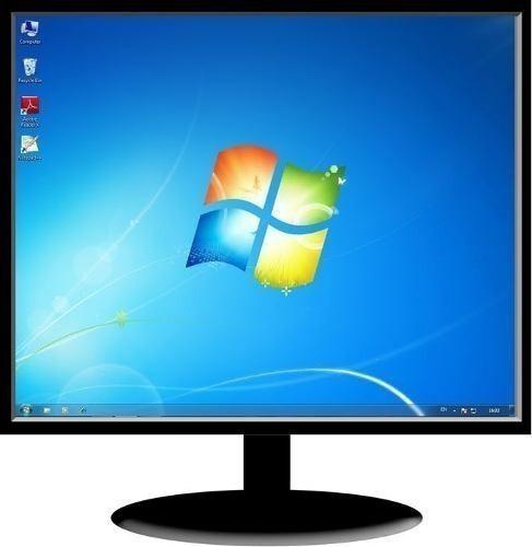 Monitores lcd 19 pulg varias marcas clase a garantia tienda