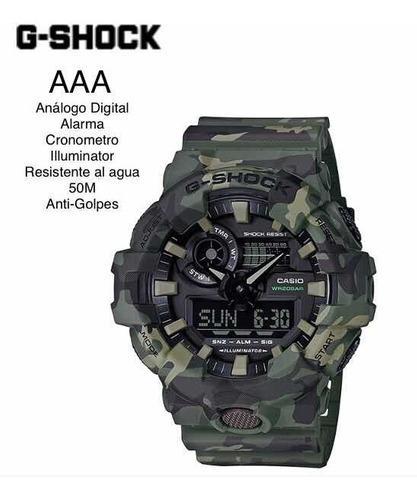 Reloj casio g-shock ga-700 resistente al agua y golpes