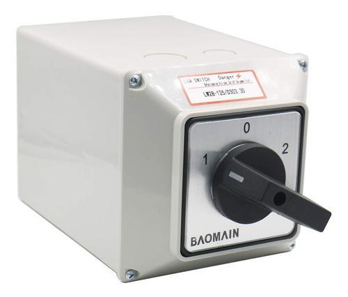 Transfer/selector manual 125 amperios con caja 3 fases