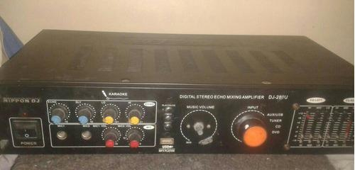 Amplificador y ecualizador de sonido nippon dj 120 w remate