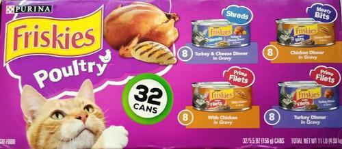 Comida humeda alimento gatarina gato purina friskies 32 lata