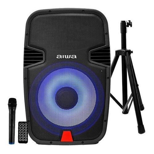 Corneta aiwa 15 pulg 1000w,recargable+bluetooth+microfono