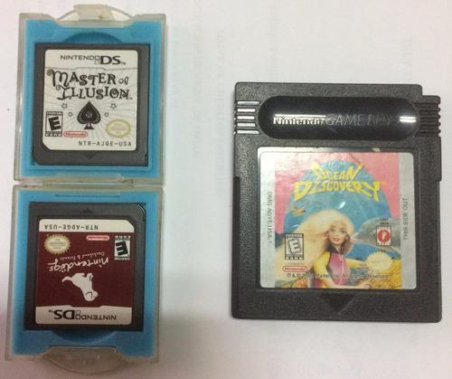 Nintendo ds 2 juegos y 1 de gameboy usados