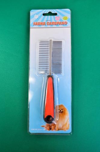 Peine doble cerda pequeño para perros mascotas animales