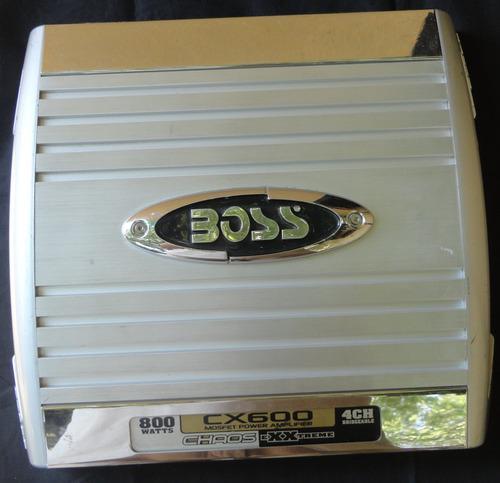 Planta amplificador boss cx600 800 watts 4 canales 35v