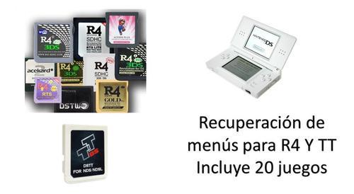 Recuperación de menús para nintendo ds r4 y tt + 20 juegos