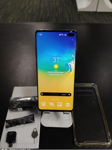 Samsung s10 plus 128gb 8gb ram con todos sus accesorios