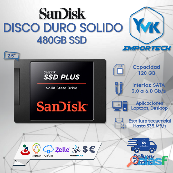 Disco duro solido 480gb ssd