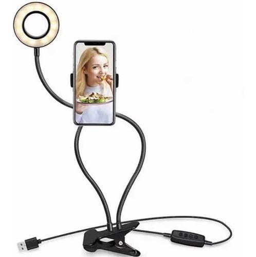 Lámpara Led Brazo Flexible Con Soporte Para Teléfono