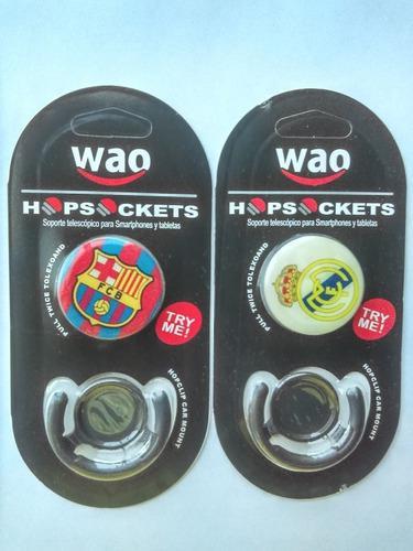 Popsocket del barcelona y el real madrid. hopsocket