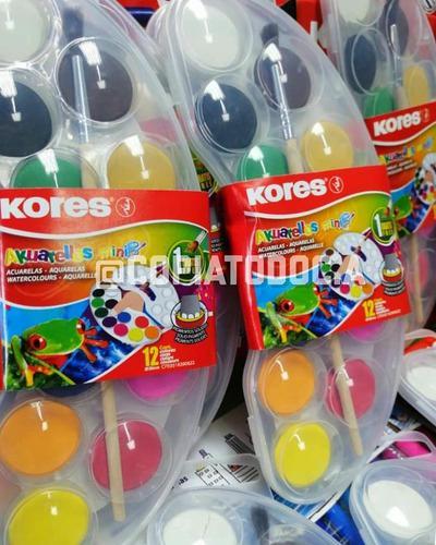 Acuarelas kores mini con pincel gratis de 12colores