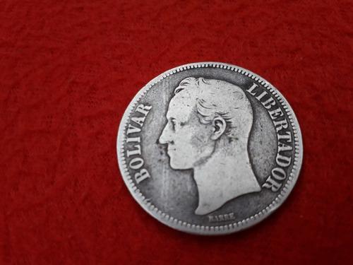 Fuerte de plata moneda de colección 1886 25 grms siglo xix