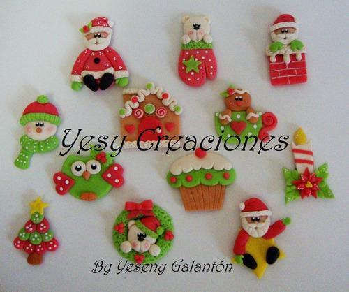 Imanes adornos regalos recuerdos navideños x 6 unid
