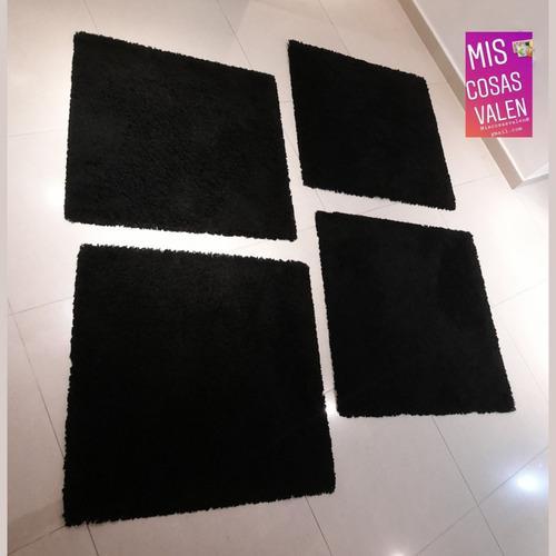 Juego de 4 alfombras cuadradas de ikea 80x80 cm