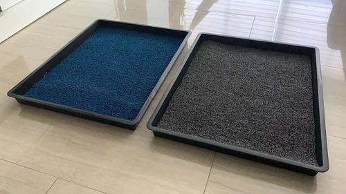 Kit bandejas alfombras de desinfección de calzado