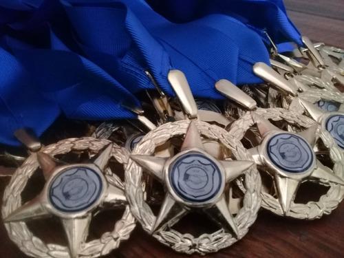 Medallas 5 puntas, graduaciones, deportes (kits 12 unid)